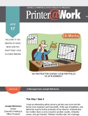 Printer@Work: News from your friends at Donnell's